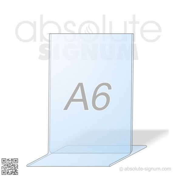 PVC A6 stalak T info holder