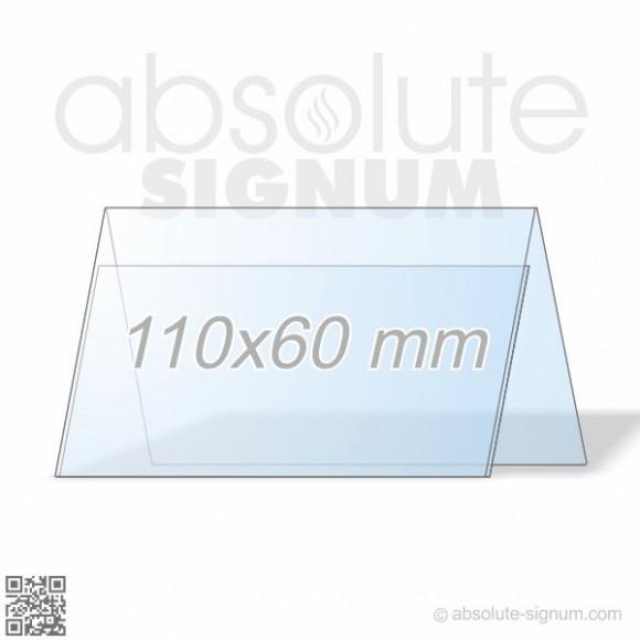 PVC LA stalak 110x60mm info holder landscape