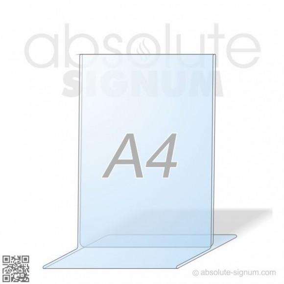 PVC A4 stalak T info holder