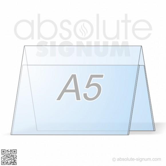 PVC A5 stalak A info holder horizontal