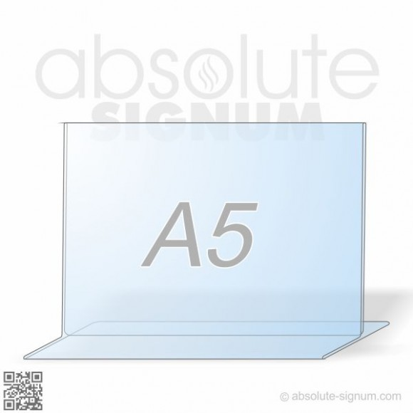 PVC A5 stalak T info holder landscape