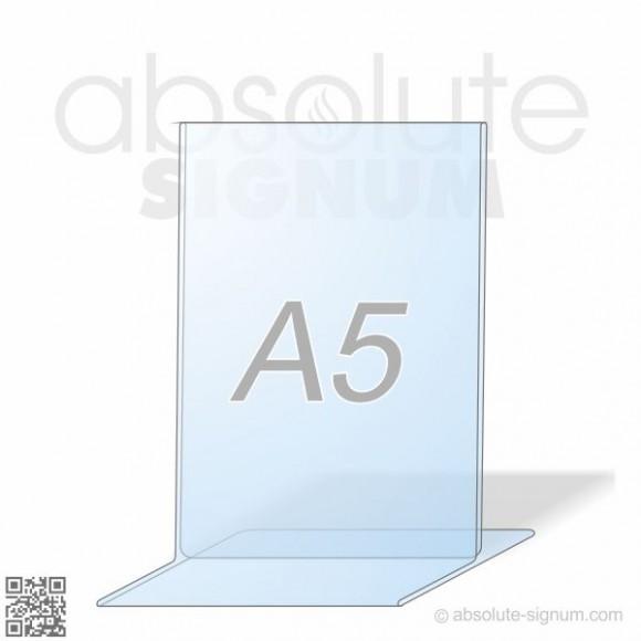 PVC A5 stalak T info holder