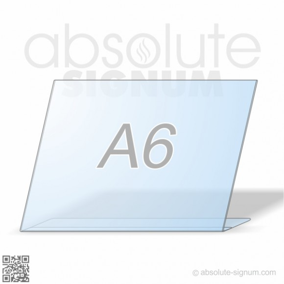 PVC A6 stalak L info holder horizontal