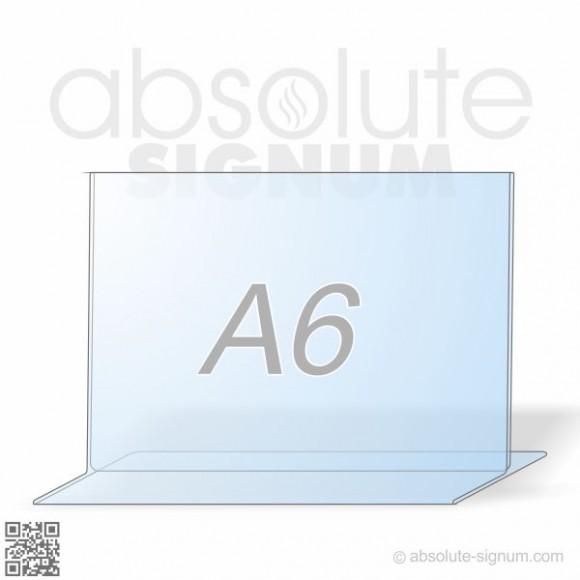 PVC A6 stalak T info holder landscape